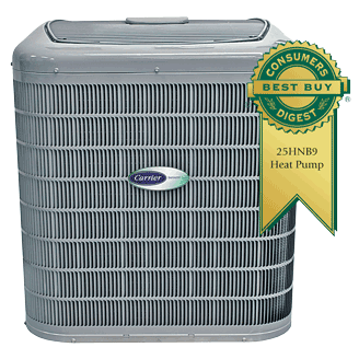 Carrier Infinity 19 heat pump.