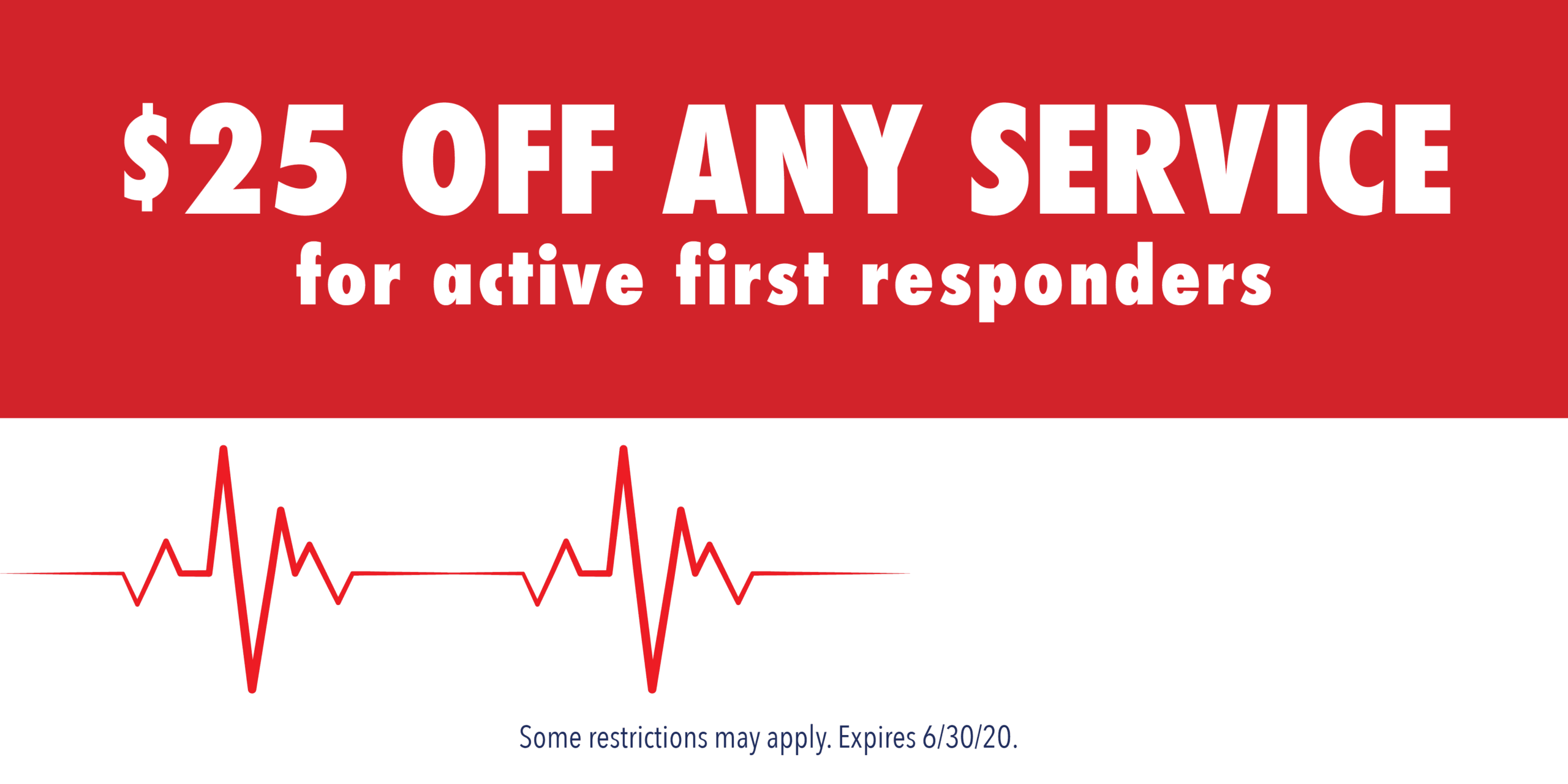 $25 off coupon for first responders from Jack's Refrigeration, heating and cooling service.