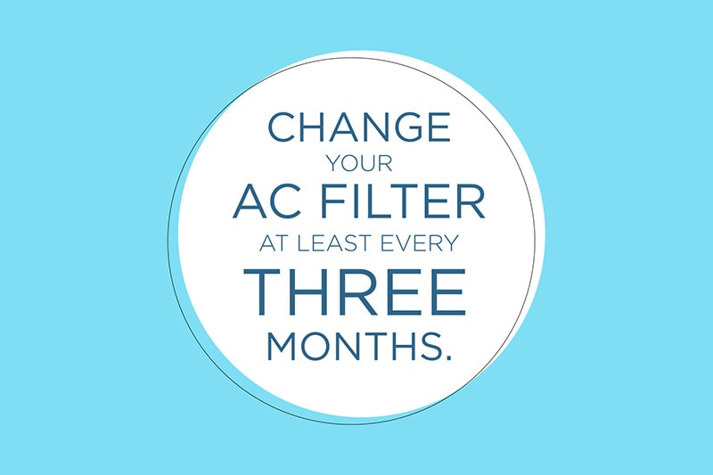 Change your AC text graphic on a light blue background, Video - Why Do I Need to Change My AC Filter? | Indoor Air Quality